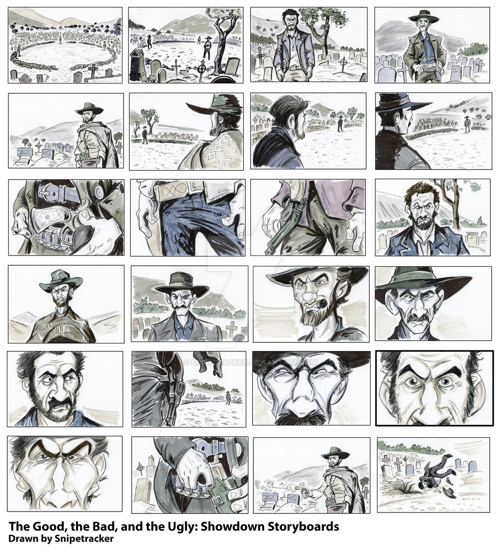 ... Bad, And The Ugly: Showdown Storyboards By Snipetracker
