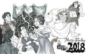Inktober: Frankenstein Bicentennial by Snipetracker