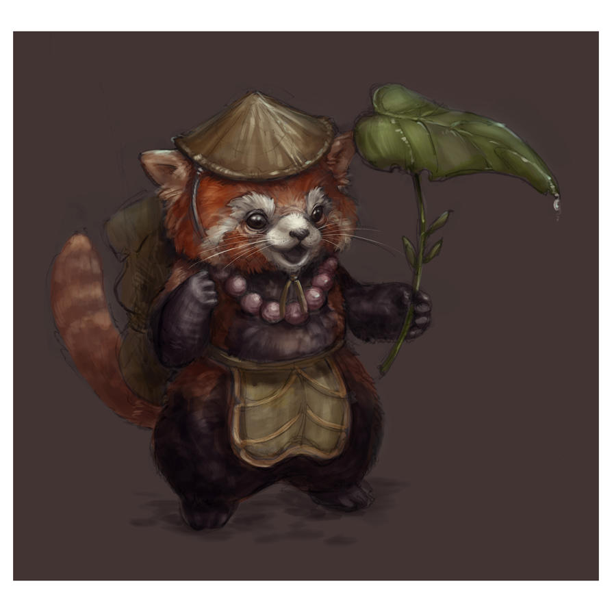 Red Panda... Monk? by ivaseow