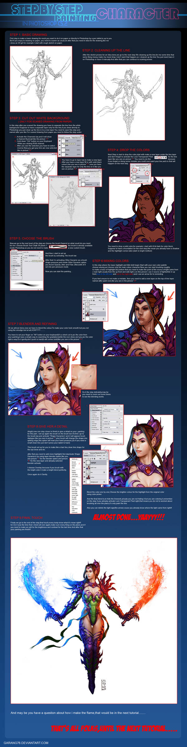 Character Painting tutorial by AdmiraWijaya