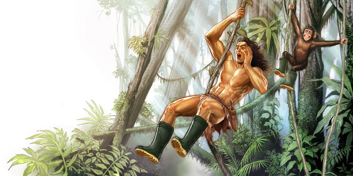 Tarzan With A Boots..?? by AdmiraWijaya