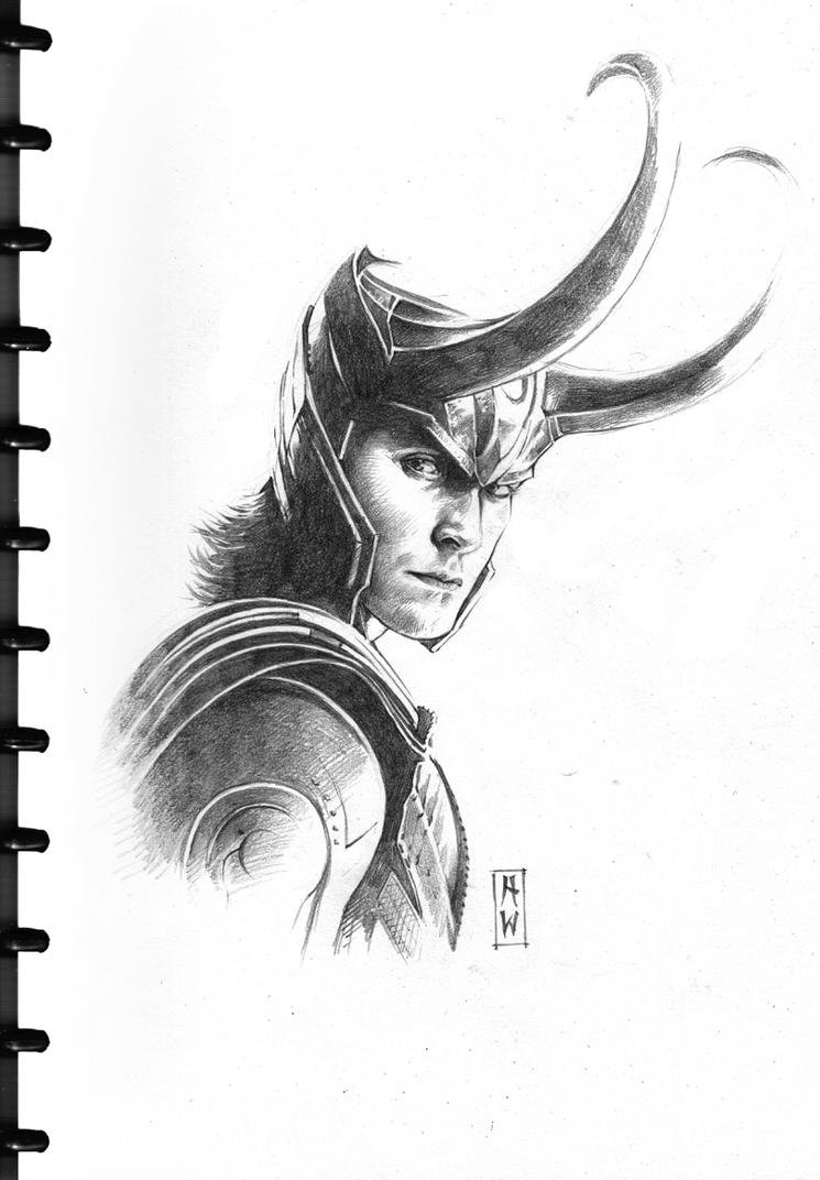 Loki Sketch by AdmiraWijaya