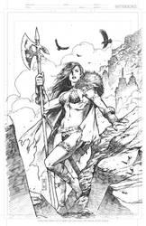 Red Sonja Sketch by AdmiraWijaya