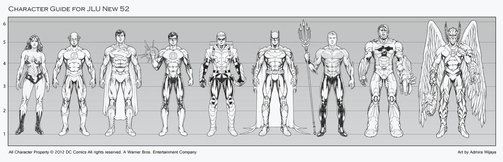 JLU Character Guide new 52 by AdmiraWijaya