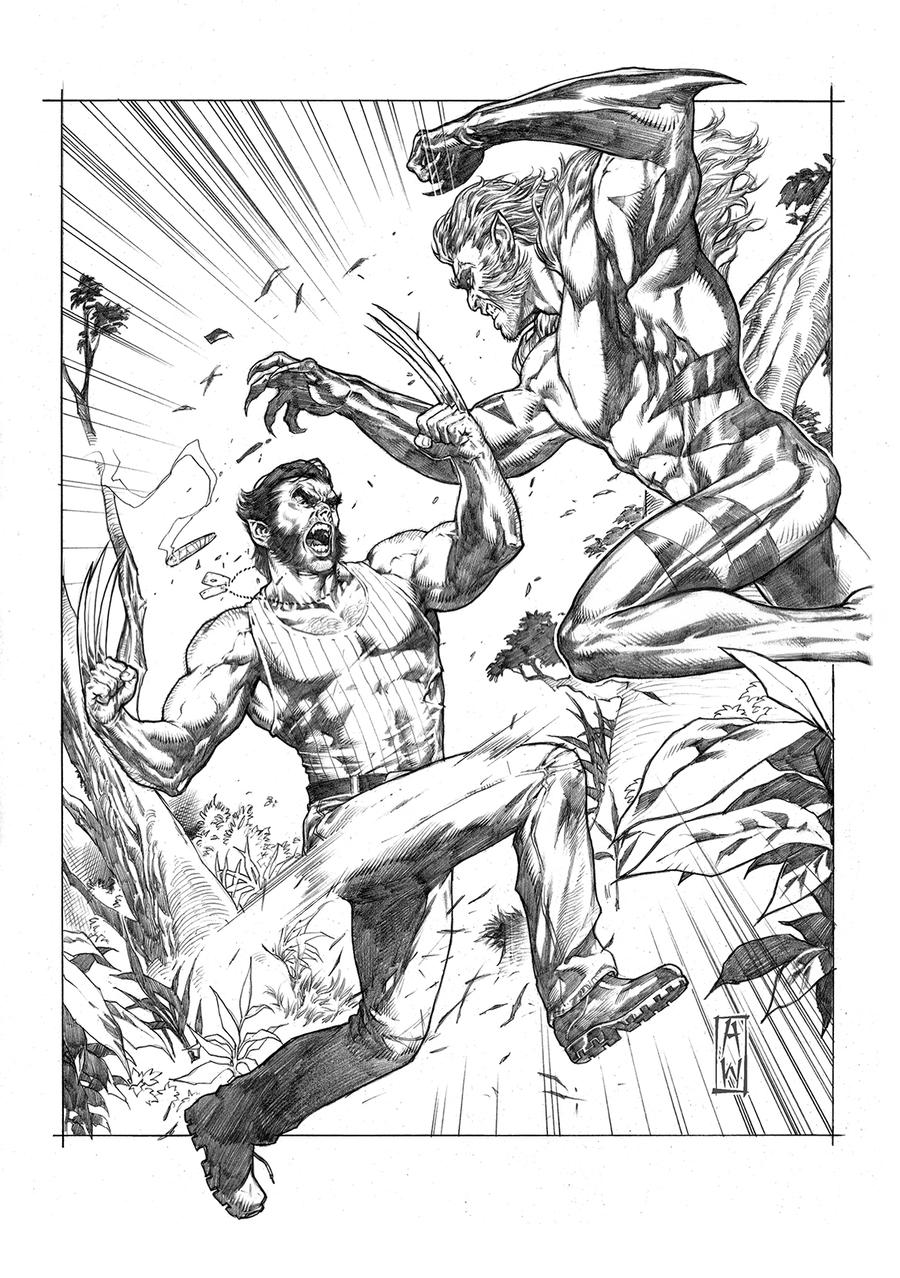 Wolverine VS Sabertooth Pencil by AdmiraWijaya
