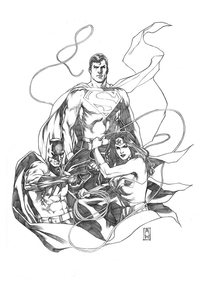 DC Trinity Sketch by AdmiraWijaya