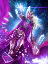 The Purple Witch by AdmiraWijaya