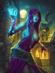 Right Hand Magic Girl by AdmiraWijaya