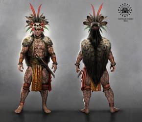 Fantasy Dayak Tribe Warrior by AdmiraWijaya