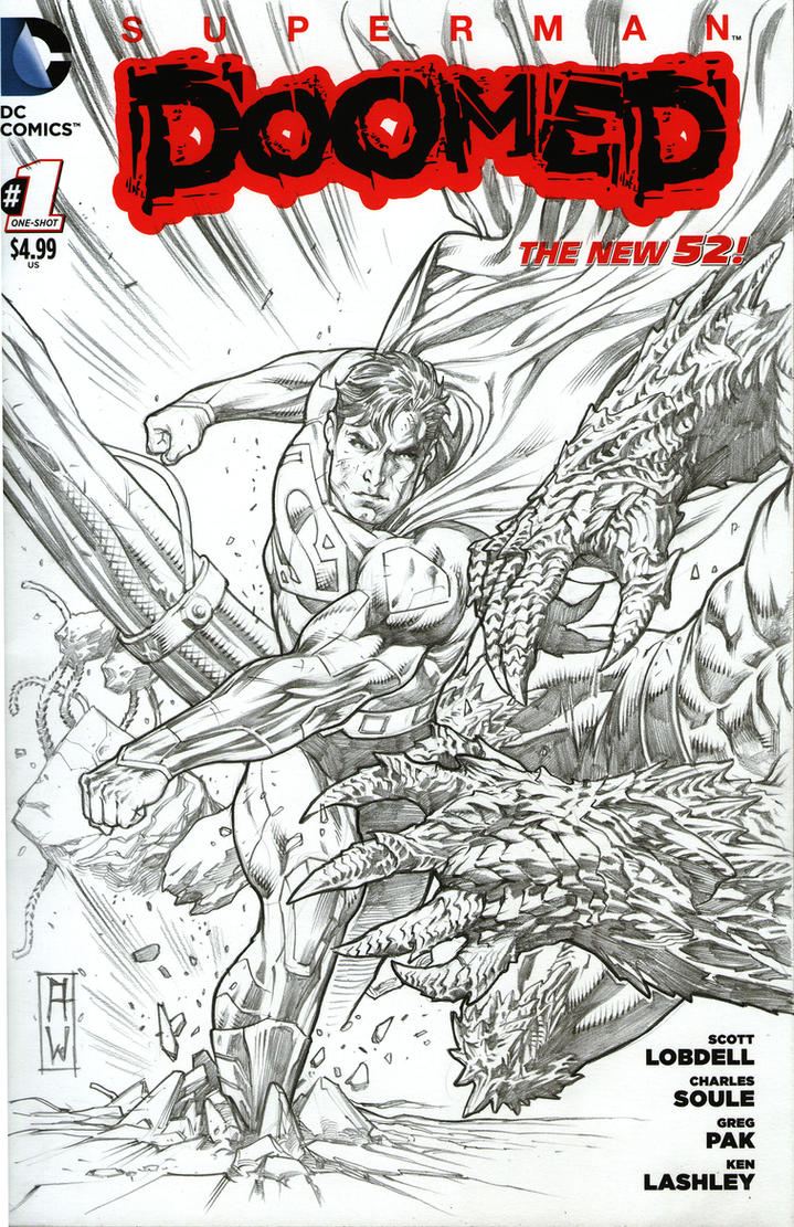 Doom Superman Blank Cover by AdmiraWijaya