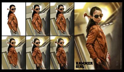 Step-By-Step Hammer Girl by AdmiraWijaya
