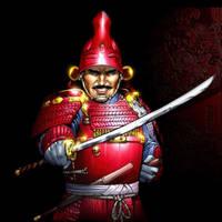 red armour samurai by AdmiraWijaya