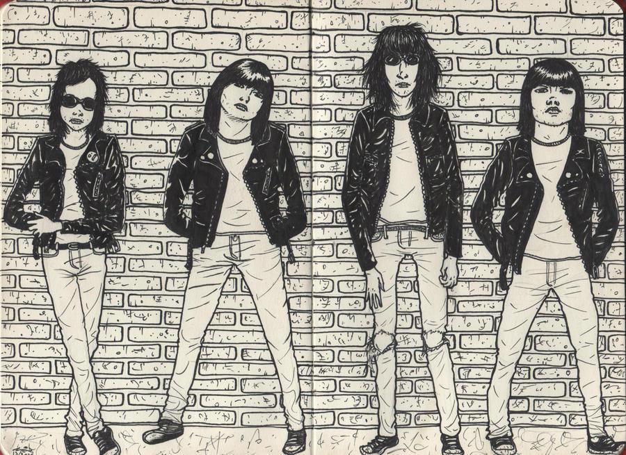 The Ramones by WerterSkelterNOW