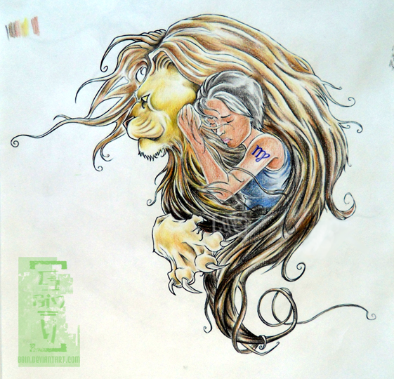 Leo Virgo Cusp Tattoo Designs