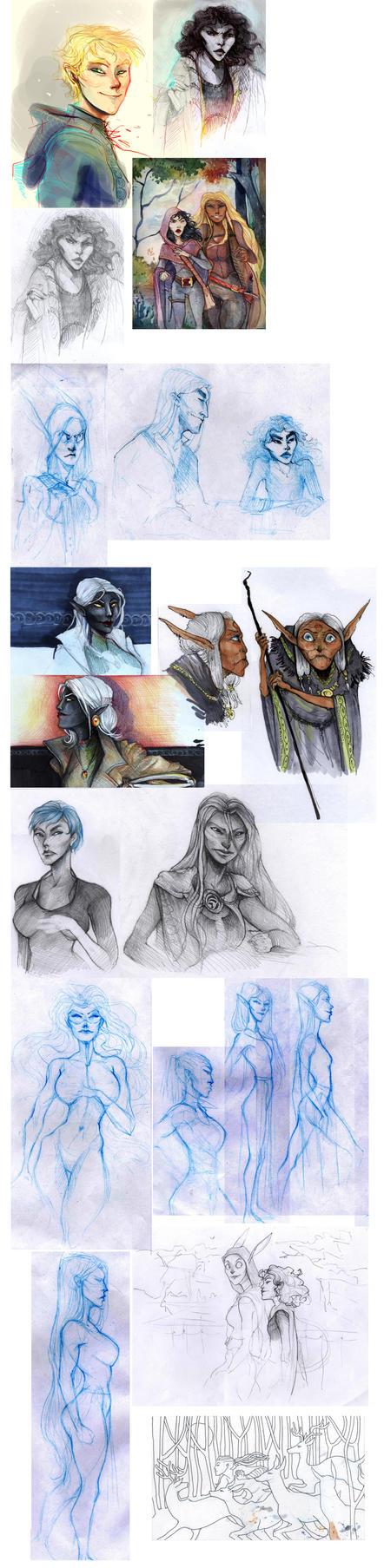 sketchdump 11 by Ne-sy