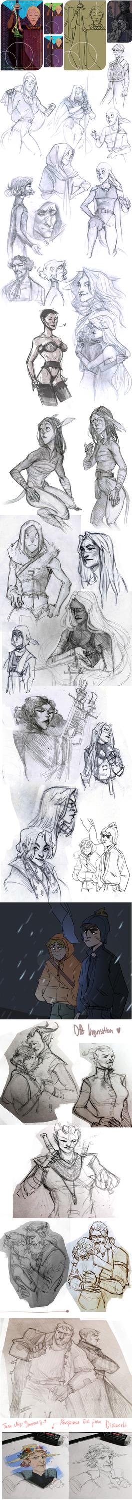 sketchdump 34 by Ne-sy