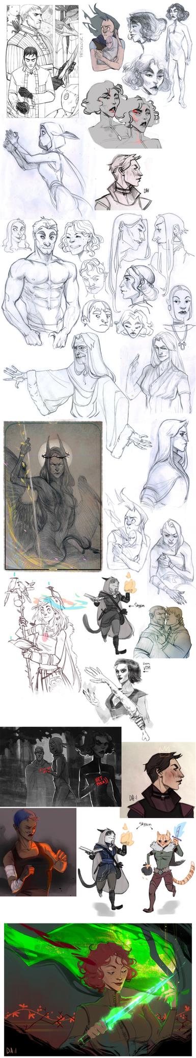 sketchdump 35 by Ne-sy