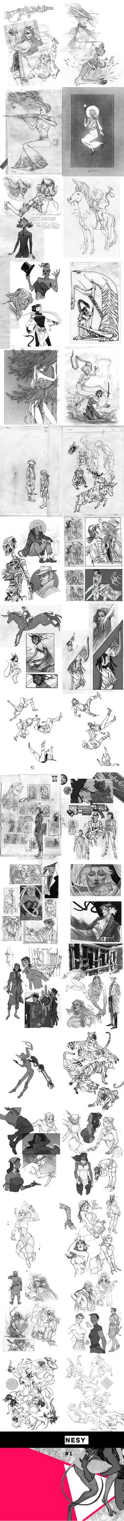 sketchbook #1 by Ne-sy