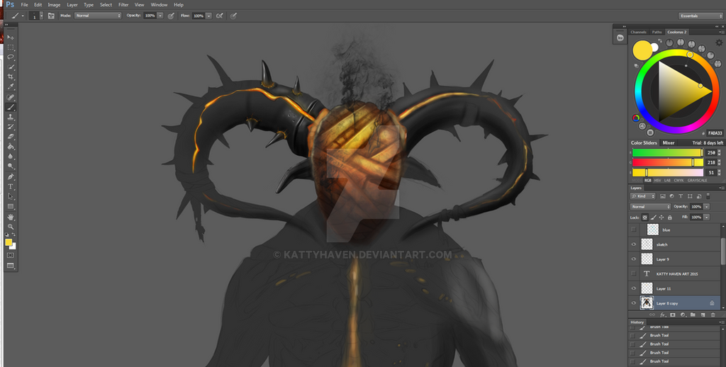 Blind Demon - in progress by kattyhaven