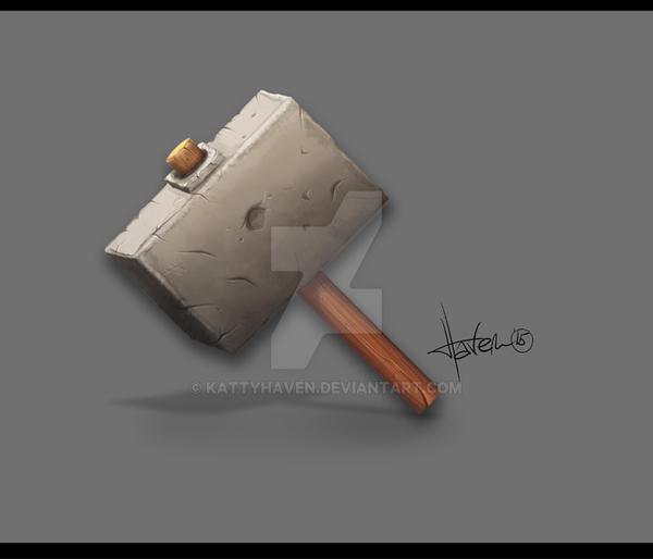 Prehistoric Hammer by kattyhaven
