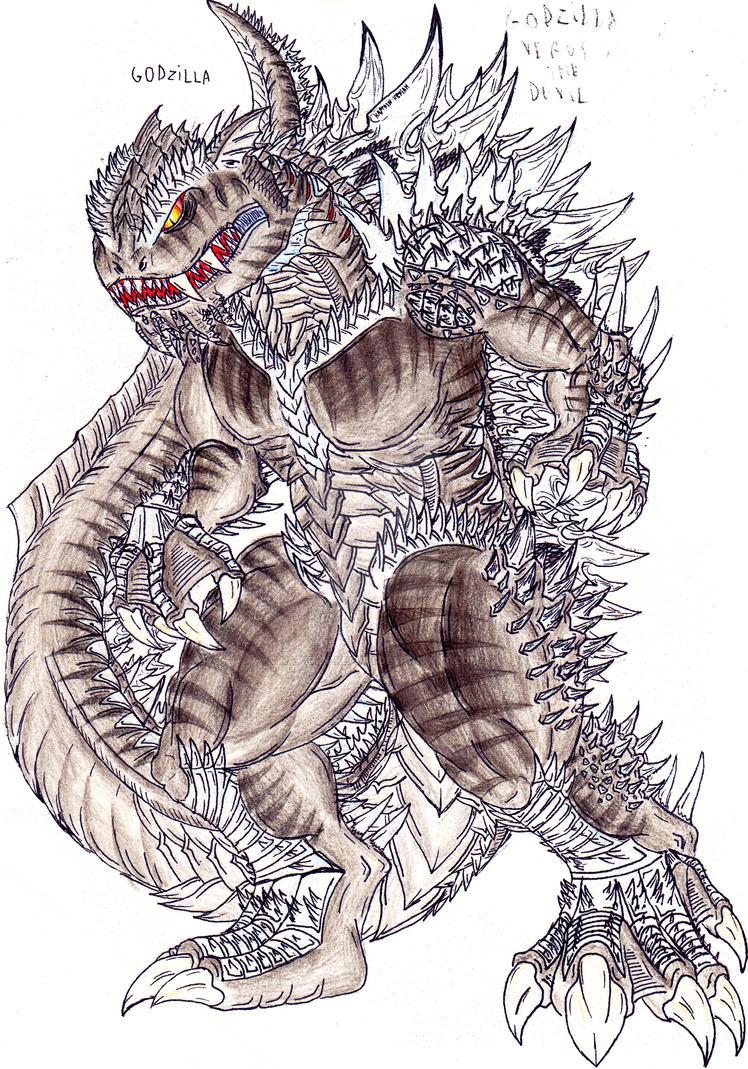 GvS: Godzilla by Kaptain-Kefiah