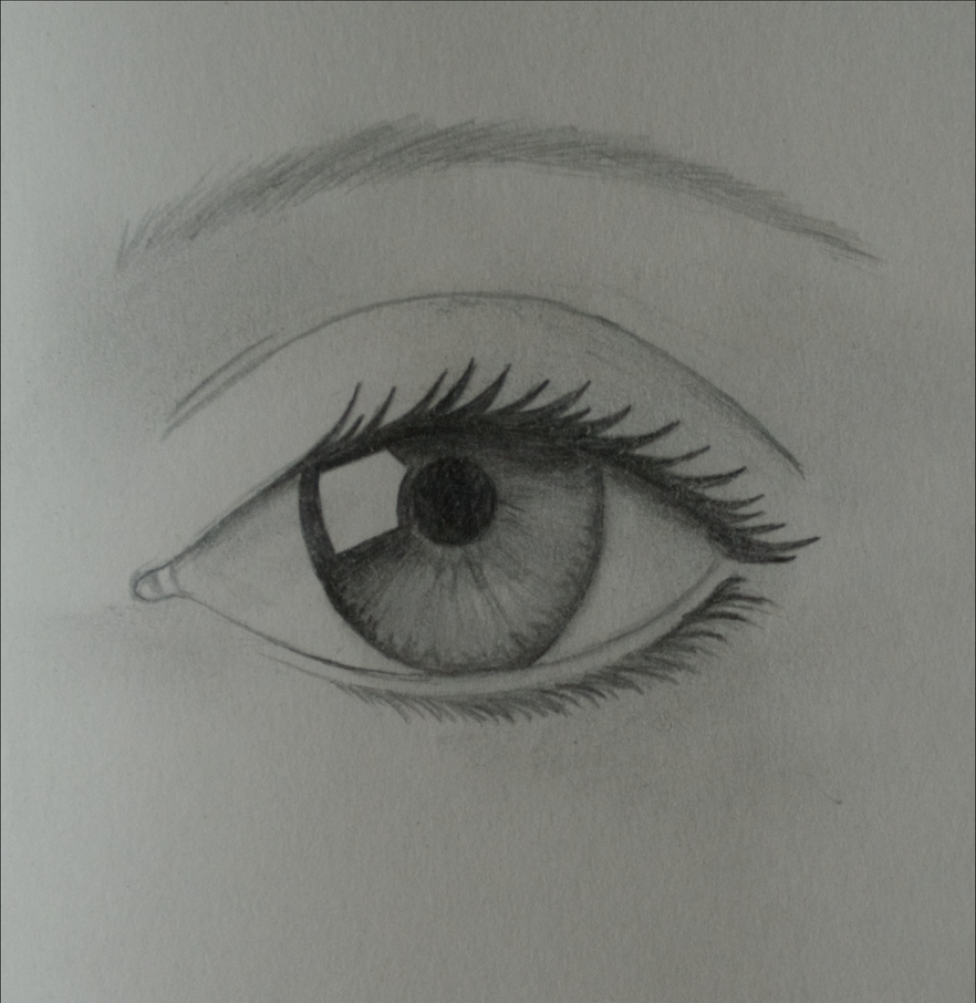 how to draw a real looking eye
