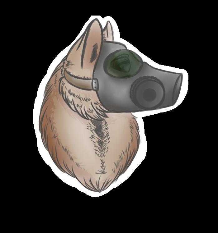 Gas Mask dog by Wolf-mask