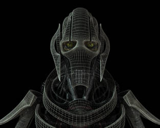 General Grievous - wireframe by admeister