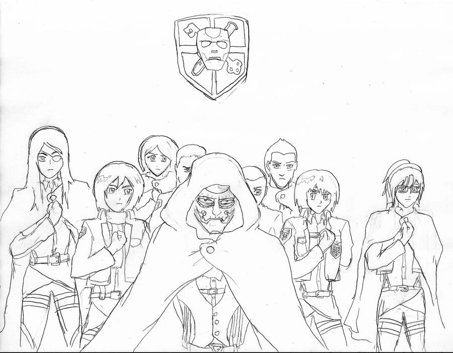 Attack On Titan Mikasa Coloring Pages