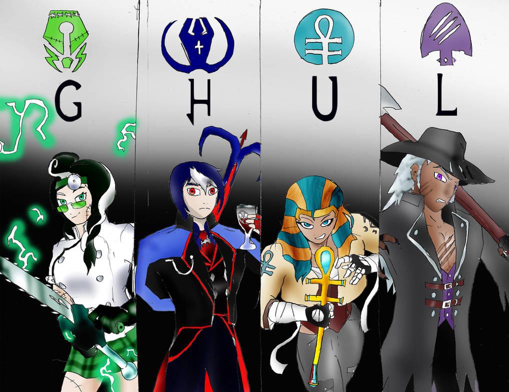 Rwby OC Team: Team GHUL (Ghoul) by Omnipotrent on DeviantArt