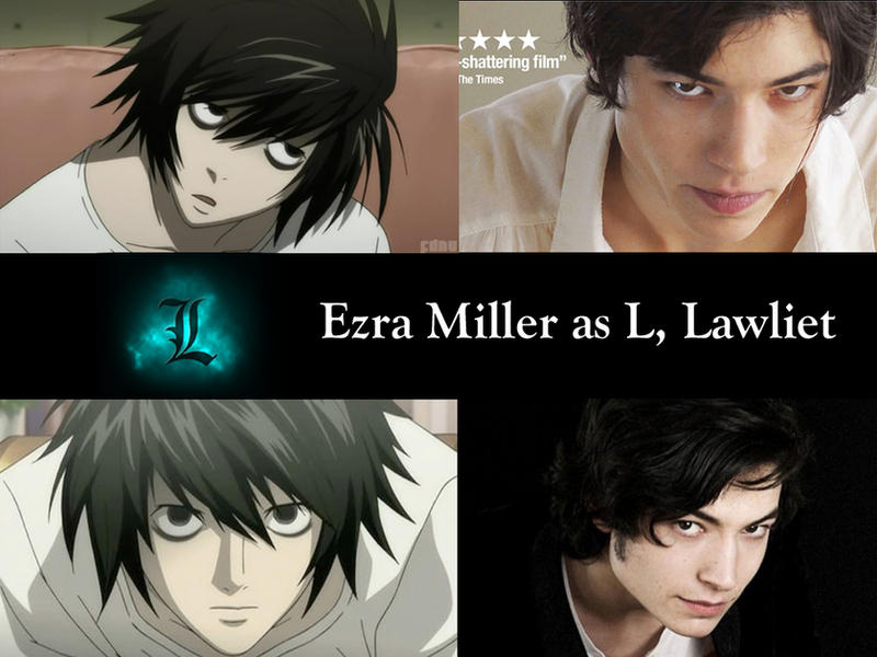 Deathnote Fancast: Ezra Miller as L Lawliet by Omnipotrent