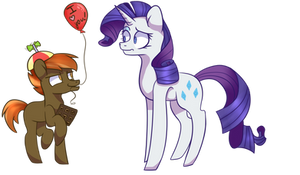 Button Mash  And Rarity by DarkPinkMonster