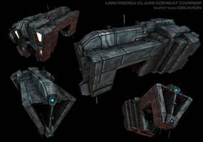 Medea Combat Carrier by AStepIntoOblivion