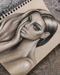 Toned paper portrait 02