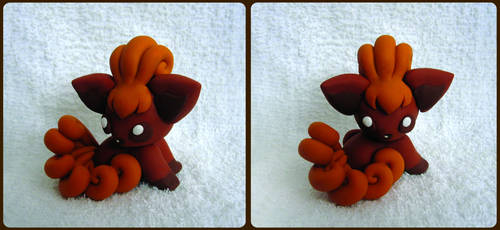 Baby Vulpix Sculpture by caffwin