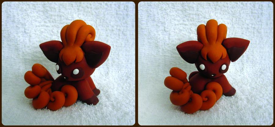 Baby Vulpix Sculpture by caffwin