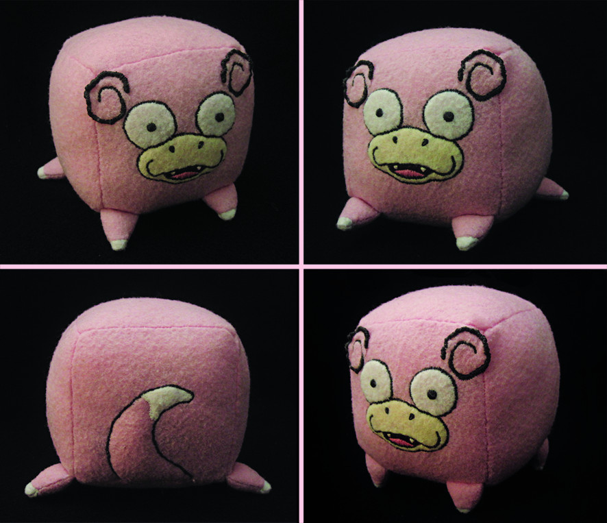 Slowpoke Cube Plush by caffwin