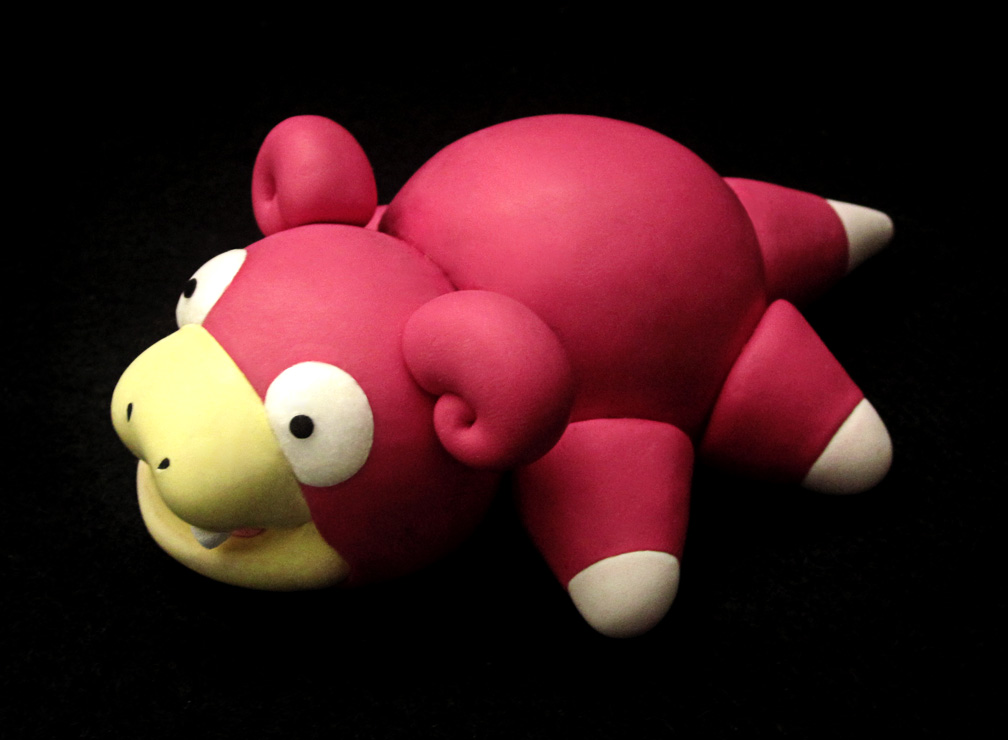 Slowpoke Pokedoll Sculpture by caffwin