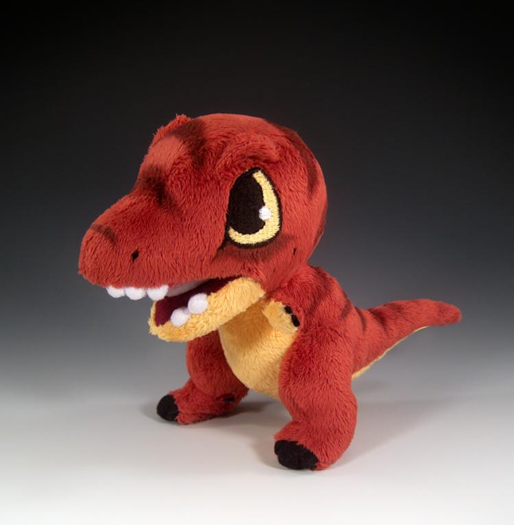 T-Rex Plush by caffwin