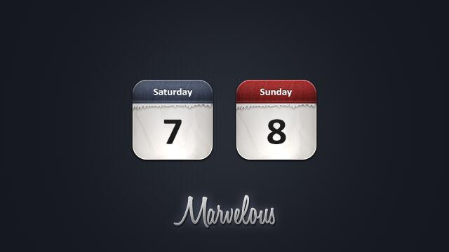 Marvelous Calendar icons by JackieTran