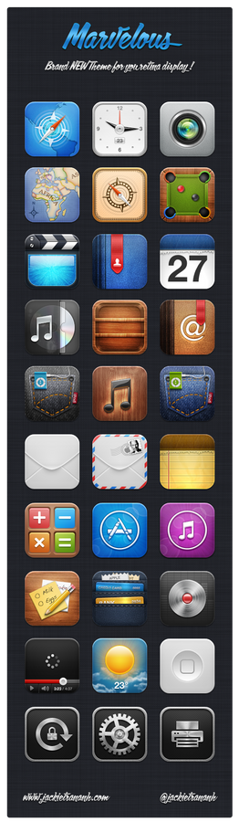 Marvelous HD iOS 5 Theme