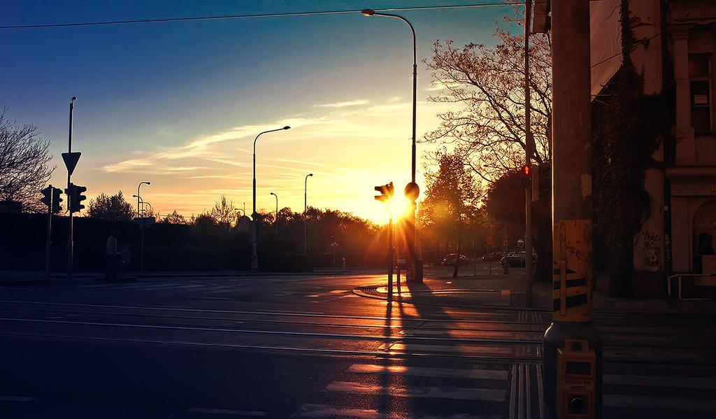 Morning street by JackieTran