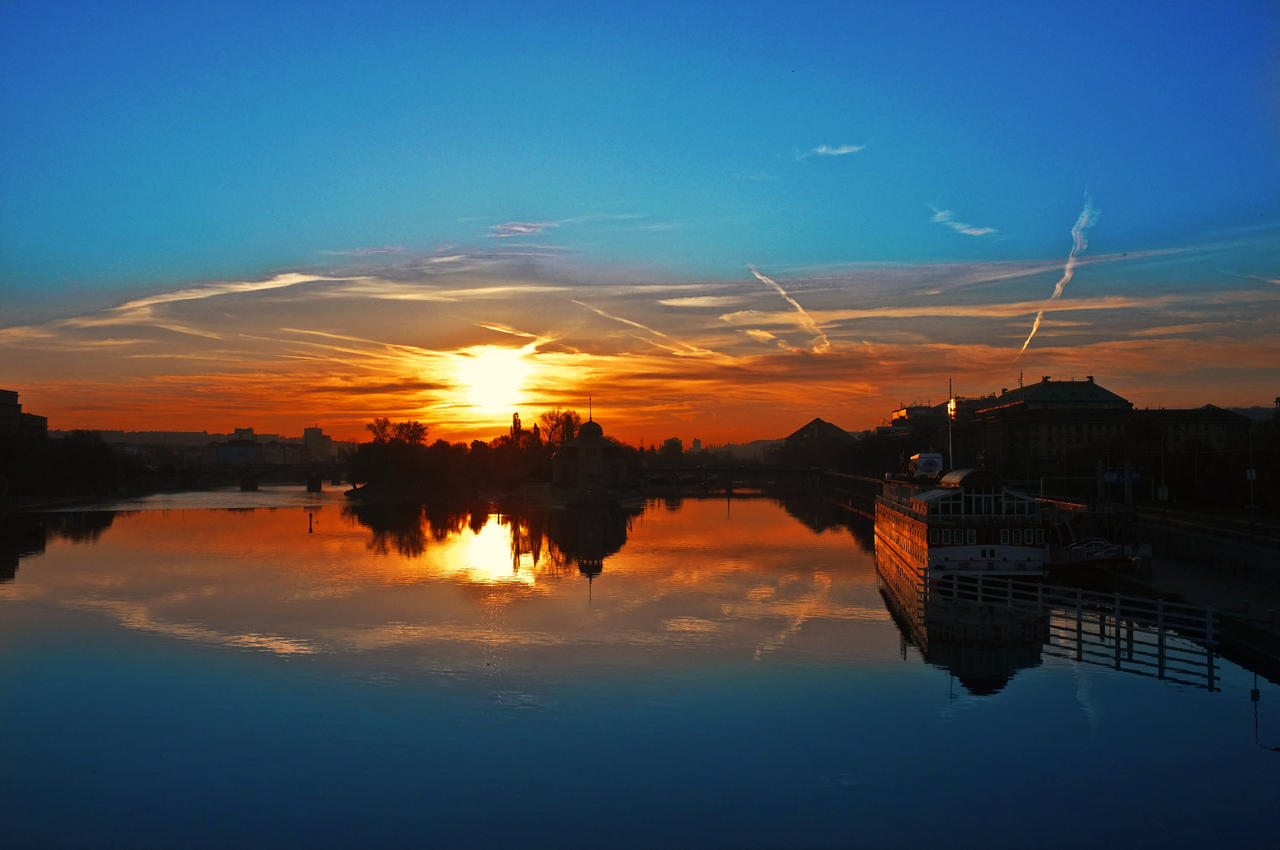Sunrise on the River by JackieTran