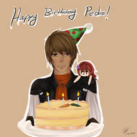 Happy Birthday Pedro by Mikan-bases