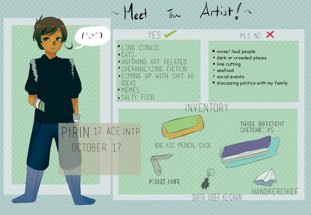 Meet the Artist MEME by Mikan-bases