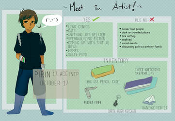 Meet the Artist MEME by Mikan-bases