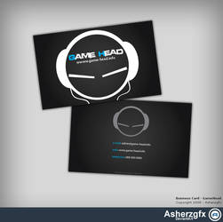 GameHead - Buisness card by asherzgfx