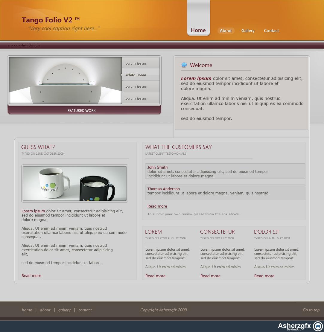 Tango Folio V2 by asherzgfx