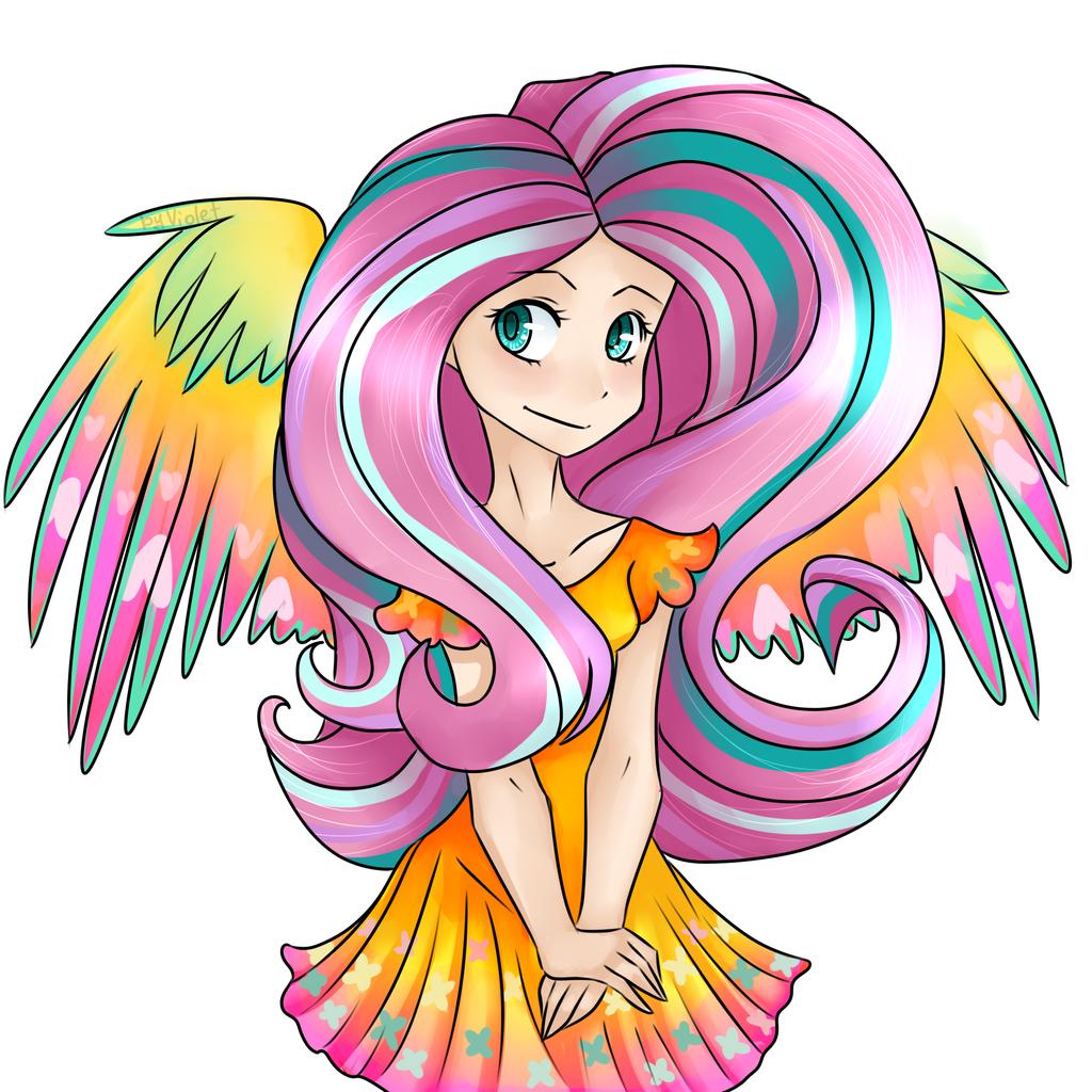 FlutterShy Rainbow Power by VOILET14 on deviantART