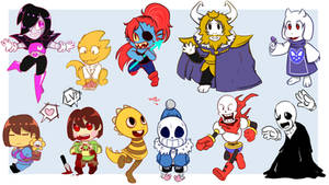 Attack of the Undertale Chibies by ProjectHalfbreed